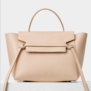 Celine mini belt tote in beige